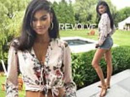 chanel iman stuns at hamptons event