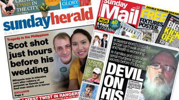 Scotland's papers: Scot shot before wedding