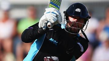 T20 Blast: Whiteley's six sixes in an over in vain after Willey ton, plus round-up