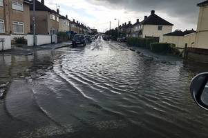 pictures show flash flooding in bristol as city hit with sudden intense rainfall