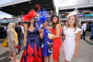 stunning outfits on display for ladies' day at market rasen racecourse