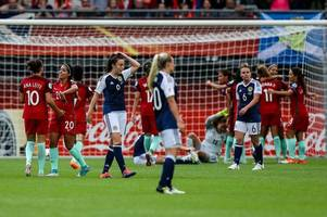 Scotland 1 Portugal 2 as Ana Leite strike all but ends Anna Signeul's side's chances of progressing