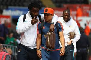 the wilfried bony links make sense - swansea city can't go into a season with just an injured fernando llorente and two youngsters on books