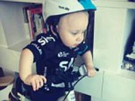 froome's wife posts pictures of baby son in riding kit