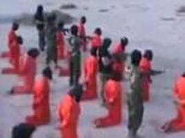 'ISIS fighters' shot dead in mass execution in Libya