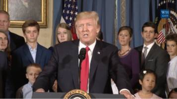 President Trump's Health Care Press Event Boasts Nearly Exclusive White Audience