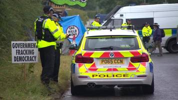north wales police officers withdrawn from fracking site