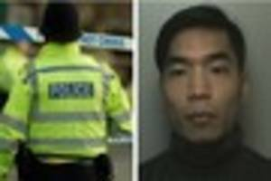 Police hunting man wanted in connection with human trafficking...