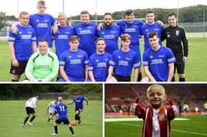 football match played in scunthorpe in memory of bradley lowery