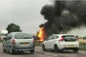 live updates as traffic is held at m11 junction 7 due to major...