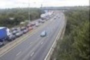 Live updates as collision causes major delays near the Dartford...