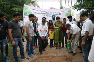 infosys chandigarh organized 'tree plantation drive' to increase the green cover by 2500 saplings