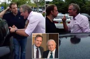 police taking no action after ex-colleague of david attenborough filmed in shocking road rage row with family