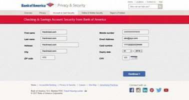 bank of america customers under attack, phishing site hosted on russian server