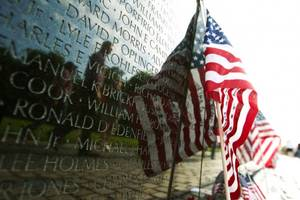 blind veteran attacked while protecting american flag