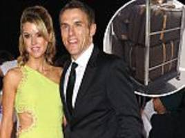 Phil Neville's wife teased after photo of 7 suitcases