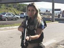 Brazilian cop inundated with proposals after photo shoot