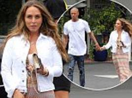 jeremy meeks and chloe green coordinate in west hollywood