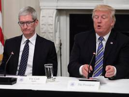 Trump says Apple promised to build 'three big plants' in the United States (AAPL)