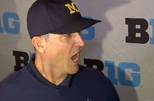 Watch Jim Harbaugh holler at reporters at Big Ten media day | FOX College Football