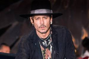johnny depp stuns in first photo from new movie 'richard says goodbye'