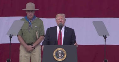 former cia chief compares trump's boy scout speech to authoritarian's youth rally
