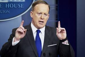 Sean Spicer: He landed a dream job in Washington, but at a price