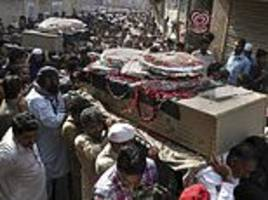 Pakistan buries more victims from deadly Taliban bombing