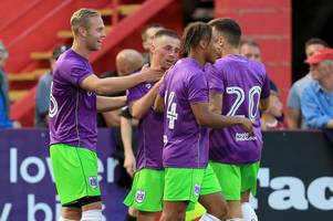 bobby reid and gustav engvall show their class in johnson cup as bristol city take on cheltenham town