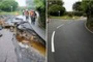 coverack flash floods: then and now one week later in pictures at...