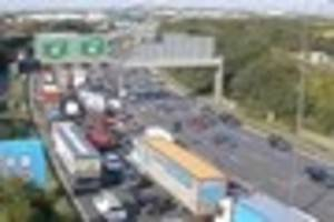 Live updates as car fire on M25 closes three lanes between...