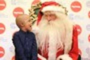 schoolboy, 6, fighting cancer meets santa in july as he was too...