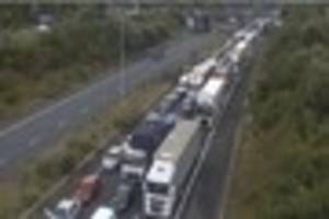 live updates as the m2 is closed after a 'serious accident'