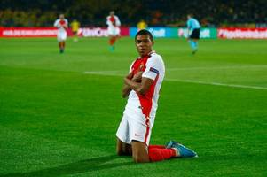 manchester city prepared to pay €180m for kylian mbappe in three-way fight for monaco star