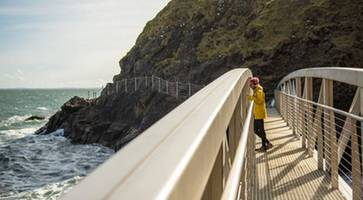 the gobbins cliff path to be top northern ireland tourist attraction this summer