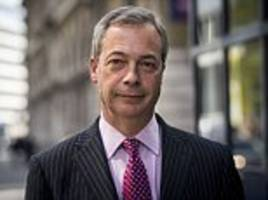 nigel farage accuses the government of 'betraying' brexit