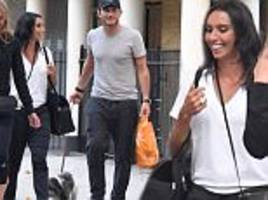 christine and frank lampard enjoy giddy dog walk in london