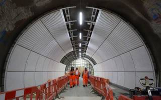 here's a look inside crossrail stations taking shape for the elizabeth line