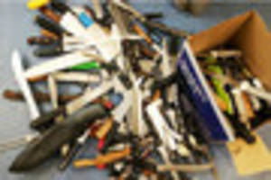 Machetes, meat clevers & flick knives handed in to North...