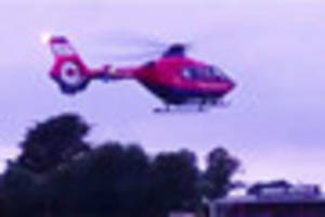 Man with head injuries airlifted to hospital - Video