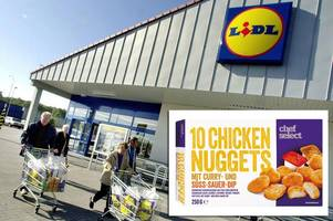 lidl selling mcdonald's-style chicken nuggets for half the price - but you'll have to be quick