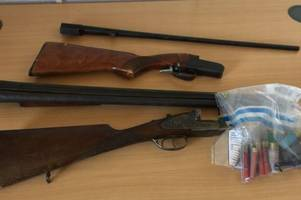 Man arrested after shotguns and ammunition seized from Swansea home