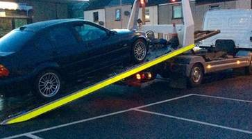 psni seize bmw car just hours after new owner bought it