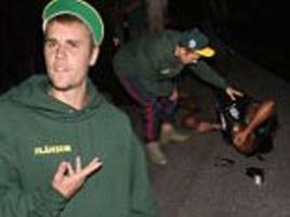 justin bieber 'hit photographer' with his monster truck