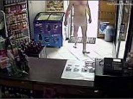 shoplifter walks into shop naked and steals beer in poland