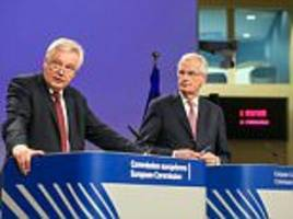 Barnier says Brexit talks not progressing quickly