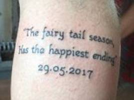 Football fan's fairytale tattoo leaves him red-faced