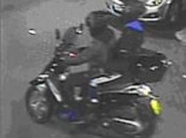 london moped mugging suspects are caught on cctv