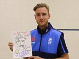 england cricket stars sketch their heroes for charity