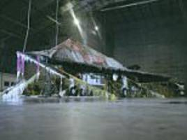 military 'blizzard hangar' where fighter jets are tested